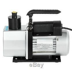 1/2HP 5CFM Rotary Vane Deep Vacuum Pump AC Air Tool HVAC R410a R134 Refrigerant