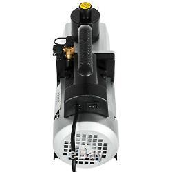 1/2HP Rotary Vane 5CFM Vacuum Pump R410a R134a Refrigerant HVAC Dual-Stage