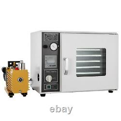 1.9cu ft Drying Oven 9 cfm Vacuum Pump 133Pa Max. 1400W Heating Power 5 Trays