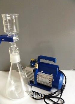 1000ml Vacuum Suction Filter Device & 3CFM Single stage vacuum pump