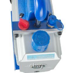 110V 5 Gallon Vacuum Chamber 3 CFM Single Stage Pump Degassing Silicone Kit Good