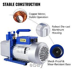 12 CFM 2 Stage 1HP Refrigerant Vacuum Pump Deep HVAC Dual Stage AC Conditioning