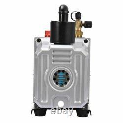 12 Cfm Deep Vacuum Pump Single Stage 110V Inlet 1/4 3/8 Sae 1 Hp AC HVAC