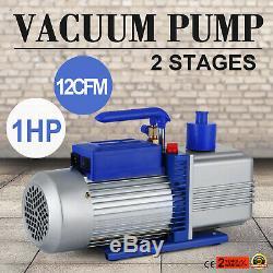 12CFM 2 Stages 1HP Refrigerant Vacuum Pump AC Conditioning 110V/60HZ 1400 RPM