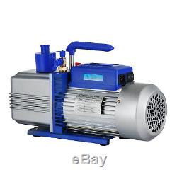 12CFM 2 Stages 1HP Refrigerant Vacuum Pump Deep HVAC Dual Stage AC Conditioning