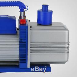 12CFM 2 Stages 1HP Refrigerant Vacuum Pump Deep HVAC Dual Stage AC Conditioning