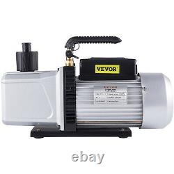 12CFM Vacuum Pump Double Stage Power 1HP rotary vane 1/4 and 3/8 R410a R134