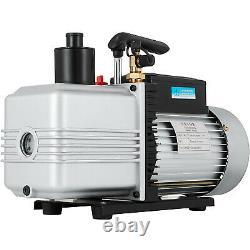 12CFM Vacuum Pump Single Stage refrigeration repair Power 1 HP rotary vane