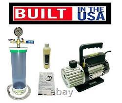 16 x 4 PVC SlickVacSeal Wood Stabilizing Chamber + 6 CFM Mastercool Pump