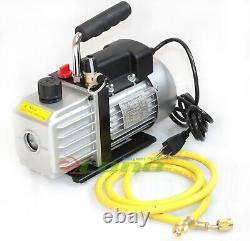 2.5CFM AC A/C ELECTRIC ROTARY VANE DEEP Air Vacuum Pump For R134A & R12/R22 NEW