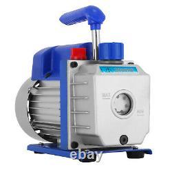 2.5CFM Vacuum Pump 1.5 Gallon Vacuum Chamber 5Pa Tool Degassing Silicone