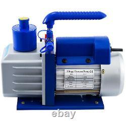 2 Gallon Vacuum Chamber Degassing 5CFM Vacuum Pump 1/3HP 1720RPM Stainless Steel