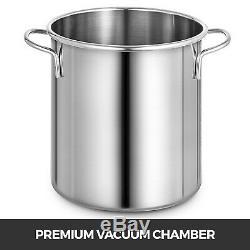 2 Gallon Vacuum Chamber Degassing Silicone Tool 3 CFM Vacuum Pump 54L/min AC