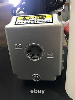 2 Stage 5cfm Non Vacuum Pump + Gauge 114/min Vacuum Desiccator 2ds245