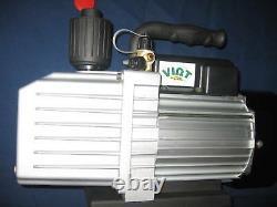 2-Stage Rotary Vane Deep Vacuum Pump 9.5CFM HVAC/R Epoxy Resin Bagging Infusion