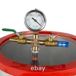 21L Degassing Chamber Silicone Kit+1/3HP 3CFM Vacuum Pump Hose Canada &USA STOCK