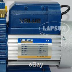 220V 4.2 CFM 120L/MIN 2L Rotary Vane Vacuum Pump 250W HVAC AC Refrigerant Air US