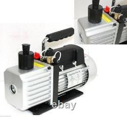 3 CFM Rotary Vane Vacuum Pump 1/4HP Refrigerant HVAC R134a R410a R22