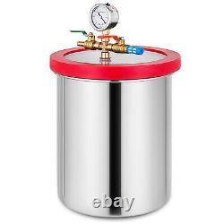 3 Gallon Vacuum Chamber 4 CFM Deep Vane Pump Epoxy with 4CFM Stainless Steel