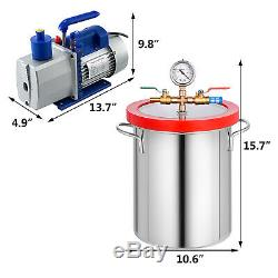 3 Gallon Vacuum Chamber and 7 CFM Dual Stage Pump Degassing Silicone Kit