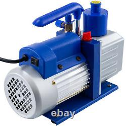 3 Gallon Vacuum Chamber5CFM Vacuum Pump 5Pa Silicone 1720RPM Stainless Steel