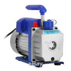 3CFM 1/4 HP Vacuum Pump HVAC Refrigeration Gauge Refrigeration Kit US Stock A/C