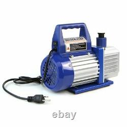 3CFM 1/4HP Rotary Vane Deep Vacuum Pump HVAC AC Air Tool R410a R134 WithFree Oil
