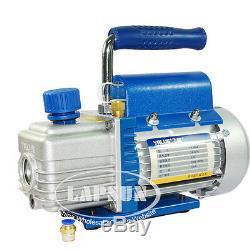 3CFM 1L 150W 2Pa Rotary Mini Vane Vacuum Pump HVAC AC Refrigerant Air Condition