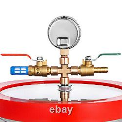 3CFM Vacuum Pump 3 Gallon Vacuum Chamber Stainless Steel Single Stage 60HZ