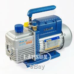 4.2 CFM 120L/MIN 2L/S Rotary Vane Vacuum Pump 250W HVAC AC Refrigerant Air 220V