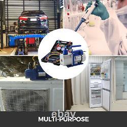 4.8 CFM 1/3hp Vacuum Pump HVAC Refrigeration AC Manifold Gauge Set R22 R134A