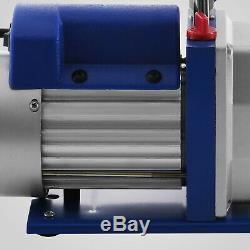 4.8CFM 1/3HP Rotary Vacuum Pump 1/3HP and A/C Manifold Gauge R22 R134A R410A