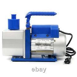 4.8CFM 1/3HP Vacuum Pump HVAC Refrigeration Manifold Gauge Carry Tote R410/R134A