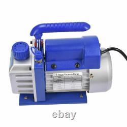 4 CFM 1 Stage Rotary Vane Vacuum Pump HVAC 1/4HP AC Air Conditioning R134a R410a