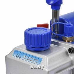 4 CFM Rotary Vane Deep Vacuum Pump 1/4HP AC Air R410a R134 HVAC Refrigerant