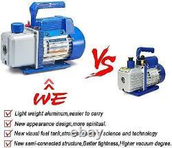 4CFM 1/3 HP Air Vacuum Pump HVAC A/C Refrigeration Tool Kit AC Auto Repair