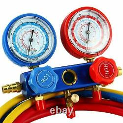 4CFM 1/3HP Rotary Vane Air Vacuum Pump HVAC A/C Refrigeration Kit +Leak Detector