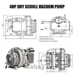 4HP Oil Free Scroll Air Compressors Replacement Pump 115psi 8.5cfm Vacuum Pump