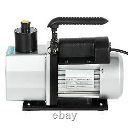 5 CFM Deep Vane Rotary Vacuum Pump HVAC Tool AC R410A R134 Refrigeration A/C