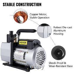 5 CFM Vacuum Pump 2 Stage 1/2 HP Rotary Vane HVAC AC Air Conditioning