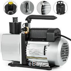 5 CFM Vacuum Pump 2-Stage 1/2 Hp Rotary Rotary Vane 1/2ACME inlet Degassing
