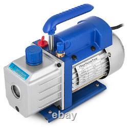 5 Gallon Vacuum Chamber Degassing 4CFM Vacuum Pump AC 1/3HP Single Stage