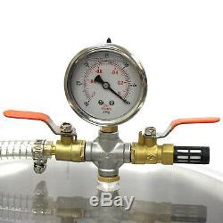 5 Gallon Vacuum Degassing Chamber Silicone Kit & 5 CFM Single Stage Pump Hose