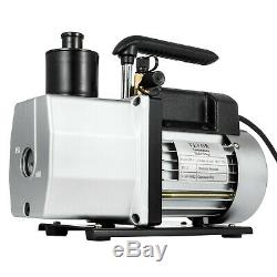 5CFM Vacuum Pump 2-Stage 1/2 Hp Rotary Refrigerant 1/4flare HVAC/Auto AC