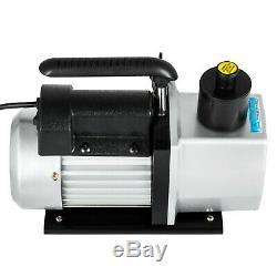 5CFM Vacuum Pump 2-Stage 1/2 Hp Rotary Refrigerant HVAC/Auto AC Recharging 1/2HP