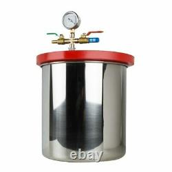 5Gallon Vacuum Chamber 3CFM Single Stage Pump Degassing Silicone Device 21L Kit