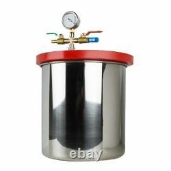 5Gallon Vacuum Chamber 3CFM Single Stage Pump Degassing Silicone Machine 21L Set