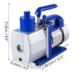6CFM 2 Stage Refrigerant Vacuum Pump 1720rpm Cast Aluminum Vacuum Packing