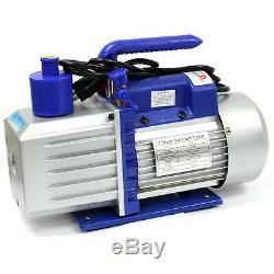 7 CFM TWO STAGE Vacuum Pump 3/4 HP Rotary Vane Deep 110V 60Hz HVAC AC Tool