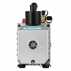 8 CFM Two Stage Rotary Vane Vacuum Pump Recharging Oil Reservoir R134a R410a